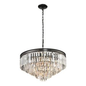 Palacial - 6 Light Chandelier in Traditional Style with Art Deco and Luxe/Glam inspirations - 22 Inches tall and 24 inches wide