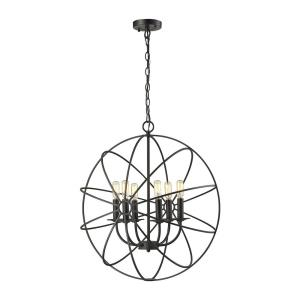 Yardley - 6 Light Chandelier in Transitional Style with Urban/Industrial and Modern Farmhouse inspirations - 26 Inches tall and 23 inches wide
