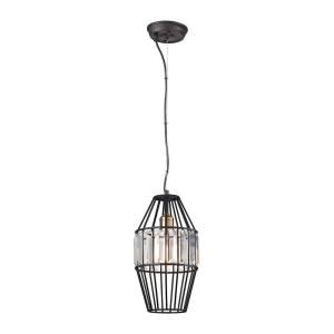 Yardley - 1 Light Mini Pendant in Transitional Style with Mid-Century and Luxe/Glam inspirations - 15 Inches tall and 8 inches wide