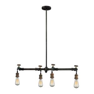 Jonas - 4 Light Chandelier in Modern/Contemporary Style with Urban/Industrial and Modern Farmhouse inspirations - 7 Inches tall and 10 inches wide