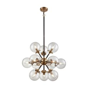 Boudreaux - 12 Light Chandelier in Modern/Contemporary Style with Mid-Century and Retro inspirations - 21 Inches tall and 25 inches wide