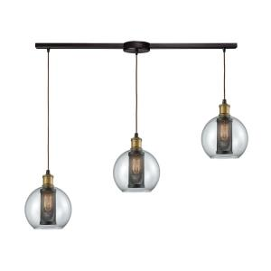 Bremington - 3 Light Linear Mini Pendant in Modern/Contemporary Style with Urban and Modern Farmhouse inspirations - 10 Inches tall and 36 inches wide