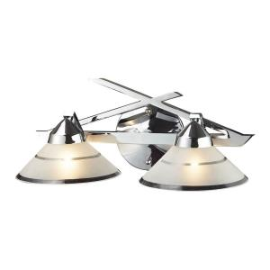 Refraction - 2 Light Bath Vanity in Modern/Contemporary Style with Art Deco and Luxe/Glam inspirations - 7 Inches tall and 16 inches wide