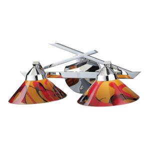 Refraction - 2 Light Wall Bracket in Modern/Contemporary Style with Art Deco and Luxe/Glam inspirations - 7 Inches tall and 16 inches wide
