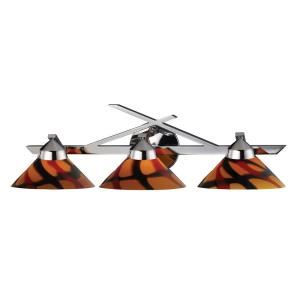 Refraction - 3 Light Wall Bracket in Modern/Contemporary Style with Art Deco and Luxe/Glam inspirations - 7 Inches tall and 25 inches wide