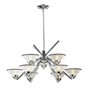 Refraction - 9 Light Chandelier in Modern/Contemporary Style with Art Deco and Luxe/Glam inspirations - 16 Inches tall and 31 inches wide
