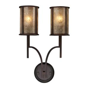 Barringer - 2 Light Wall Sconce in Traditional Style with Country/Cottage and Southwestern inspirations - 22 Inches tall and 14 inches wide