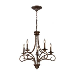 Gloucester - 5 Light Chandelier in Traditional Style with Country/Cottage and Southwestern inspirations - 27 Inches tall and 24 inches wide