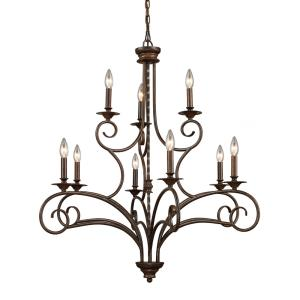 Gloucester - 9 Light Chandelier in Traditional Style with Country/Cottage and Southwestern inspirations - 38 Inches tall and 35.5 inches wide