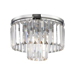Palacial - 1 Light Semi-Flush Mount in Traditional Style with Art Deco and Luxe/Glam inspirations - 9 Inches tall and 12 inches wide
