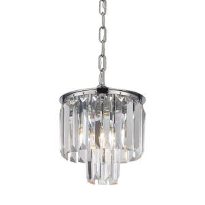 Palacial - 1 Light Mini Pendant in Traditional Style with Art Deco and Luxe/Glam inspirations - 9 Inches tall and 8 inches wide