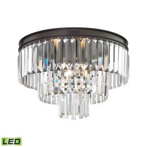 Palacial - 14.4W 3 LED Semi-Flush Mount in Traditional Style with Art Deco and Luxe/Glam inspirations - 13 Inches tall and 19 inches wide
