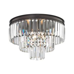 Palacial - 3 Light Semi-Flush Mount in Traditional Style with Art Deco and Luxe/Glam inspirations - 13 Inches tall and 19 inches wide