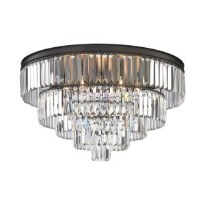 Palacial - 6 Light Chandelier in Traditional Style with Art Deco and Luxe/Glam inspirations - 18 Inches tall and 31 inches wide