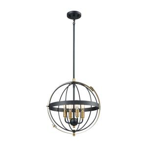 Caldwell - 4 Light Chandelier in Transitional Style with Urban/Industrial and Country/Cottage inspirations - 17 Inches tall and 17 inches wide
