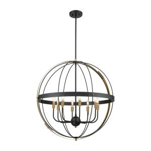 Caldwell - 8 Light Chandelier in Transitional Style with Urban/Industrial and Country/Cottage inspirations - 33 Inches tall and 32 inches wide