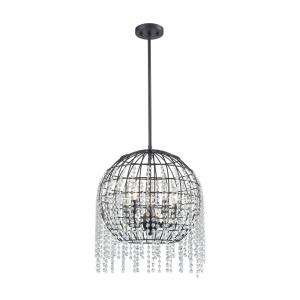 Yardley - 5 Light Chandelier in Transitional Style with Luxe/Glam and Mid-Century Modern inspirations - 18 Inches tall and 17 inches wide