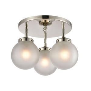 Boudreaux - 3 Light Semi-Flush Mount in Modern/Contemporary Style with Mid-Century and Retro inspirations - 10 Inches tall and 15 inches wide