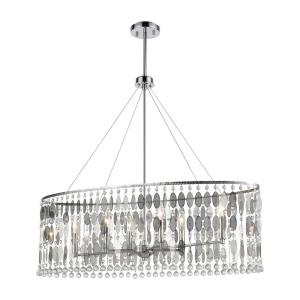 Chamelon - 6 Light Chandelier in Modern/Contemporary Style with Luxe/Glam and Boho inspirations - 31 Inches tall and 36 inches wide
