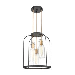Sheena - 3 Light Pendant in Modern/Contemporary Style with Mid-Century and Modern Farmhouse inspirations - 21 Inches tall and 16 inches wide
