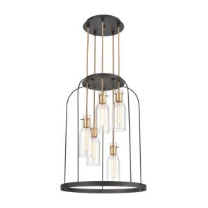 Sheena - 5 Light Chandelier in Modern/Contemporary Style with Mid-Century and Modern Farmhouse inspirations - 30 Inches tall and 22 inches wide