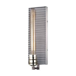 Corrugated Steel - One Light Wall Sconce