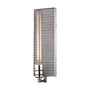 Corrugated Steel - 1 Light Wall Sconce in Modern/Contemporary Style with Urban and Modern Farmhouse inspirations - 15 Inches tall and 5 inches wide