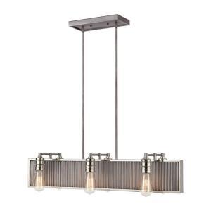 Corrugated Steel - Six Light Chandelier