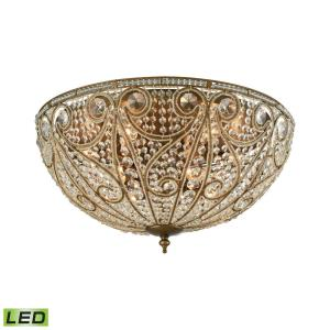 Elizabethan - 28 Inch 48W 10 LED Flush Mount