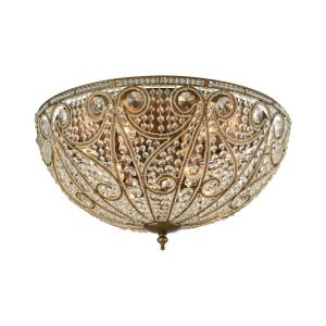 Elizabethan - Ten Light Flush Mount