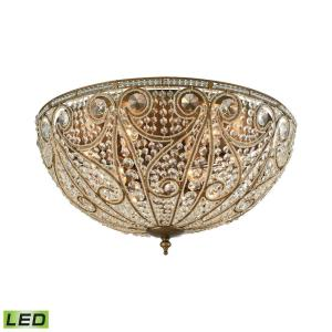 Elizabethan - 48W 10 LED Flush Mount in Traditional Style with Victorian and Luxe/Glam inspirations - 14 Inches tall and 28 inches wide