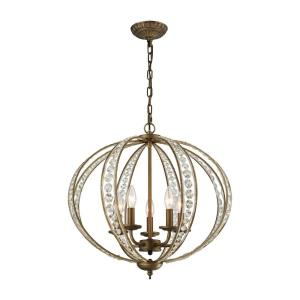 Elizabethan - 5 Light Chandelier in Traditional Style with Victorian and Luxe/Glam inspirations - 20 Inches tall and 21 inches wide