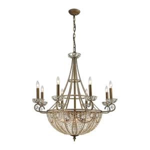 Elizabethan - 4teen Light Chandelier in Traditional Style with Victorian and Luxe/Glam inspirations - 37 Inches tall and 35 inches wide