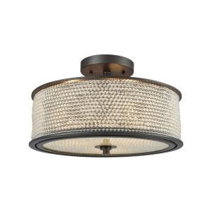 Glass Beads - Three Light Semi-Flush Mount