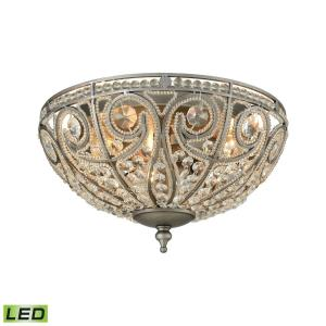 Elizabethan - 14.4W 3 LED Flush Mount in Traditional Style with Victorian and Luxe/Glam inspirations - 7 Inches tall and 13 inches wide