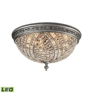 Renaissance - 28.8W 6 LED Flush Mount in Traditional Style with Victorian and Luxe/Glam inspirations - 12 Inches tall and 24 inches wide