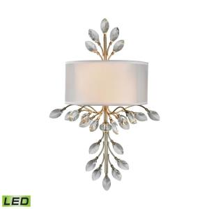 Asbury - 9.6W 2 LED Wall Sconce in Traditional Style with Luxe/Glam and Nature/Organic inspirations - 23 Inches tall and 11 inches wide