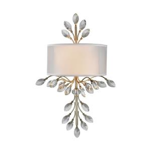 Asbury - 2 Light Wall Sconce in Traditional Style with Luxe/Glam and Nature/Organic inspirations - 23 Inches tall and 11 inches wide