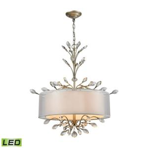 Asbury - 19.2W 4 LED Chandelier in Traditional Style with Luxe/Glam and Nature/Organic inspirations - 27 Inches tall and 26 inches wide