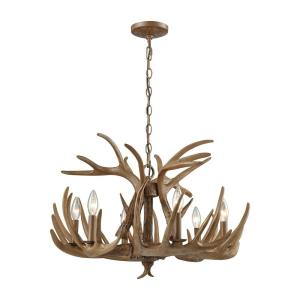 Elk - 6 Light Chandelier in Traditional Style with Country/Cottage and Nature/Organic inspirations - 18 Inches tall and 25 inches wide