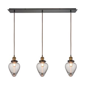 Bartram - Three Light Linear Mini Pendant