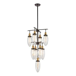 Shinzu - 9 Light Chandelier in Traditional Style with Asian and Luxe/Glam inspirations - 40 Inches tall and 20 inches wide