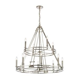Bergamo - 12 Light Chandelier in Modern/Contemporary Style with Luxe/Glam and Urban/Industrial inspirations - 37 Inches tall and 35 inches wide