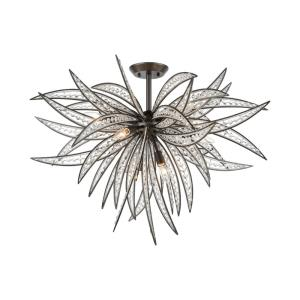 Naples - 8 Light Semi-Flush Mount in Modern/Contemporary Style with Coastal/Beach  and Nature/Organic inspirations - 25 Inches tall and 35 inches wide