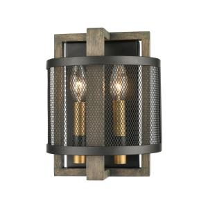 Woodbridge - 2 Light Wall Sconce in Transitional Style with Modern Farmhouse and Country/Cottage inspirations - 10 Inches tall and 8 inches wide
