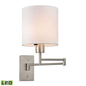 Carson - 9.5W 1 LED Swingarm Wall Sconce in Transitional Style with Scandinavian and Retro inspirations - 13 Inches tall and 7 inches wide