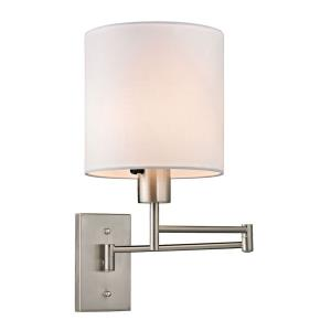 Carson - 1 Light Swingarm Wall Sconce in Transitional Style with Scandinavian and Retro inspirations - 13 Inches tall and 7 inches wide