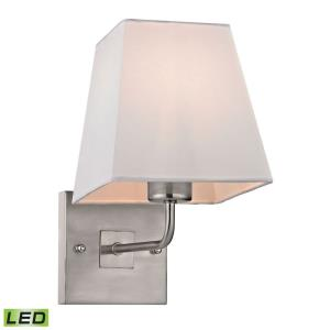 Beverly - 9.5W 1 LED Wall Sconce in Transitional Style with Scandinavian and Retro inspirations - 10 Inches tall and 6 inches wide