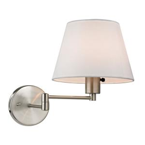 Avenal - 1 Light Swingarm Wall Sconce in Transitional Style with Scandinavian and Retro inspirations - 12 Inches tall and 9 inches wide