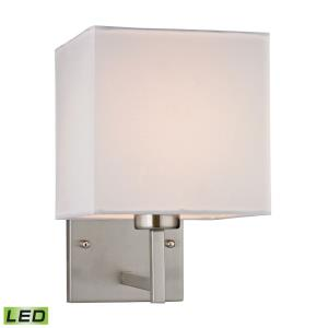 Davis - 9.5W 1 LED Wall Sconce in Transitional Style with Scandinavian and Retro inspirations - 10 Inches tall and 7 inches wide